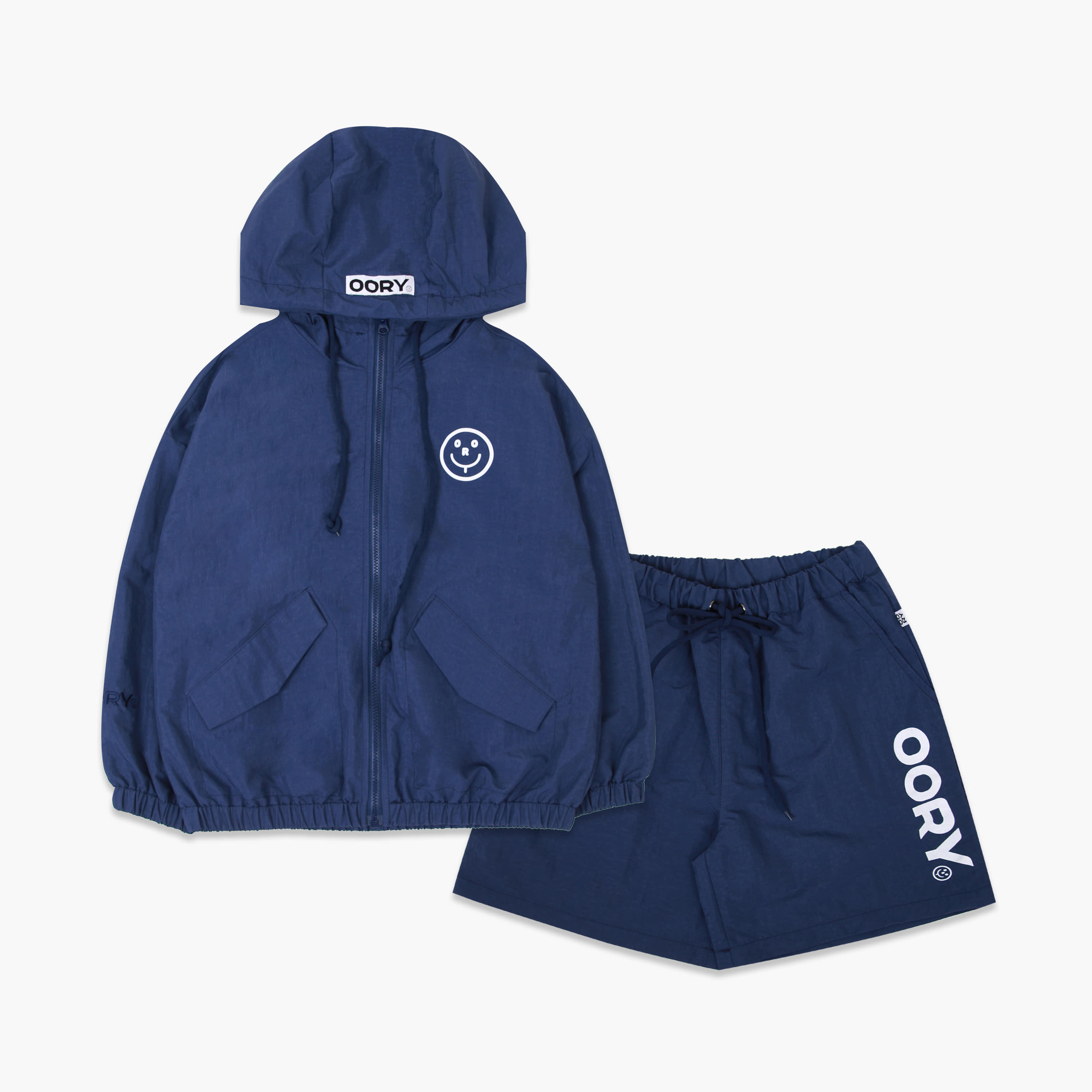 OORY 21 S/S Windbreak set - navy( 2차 입고 )