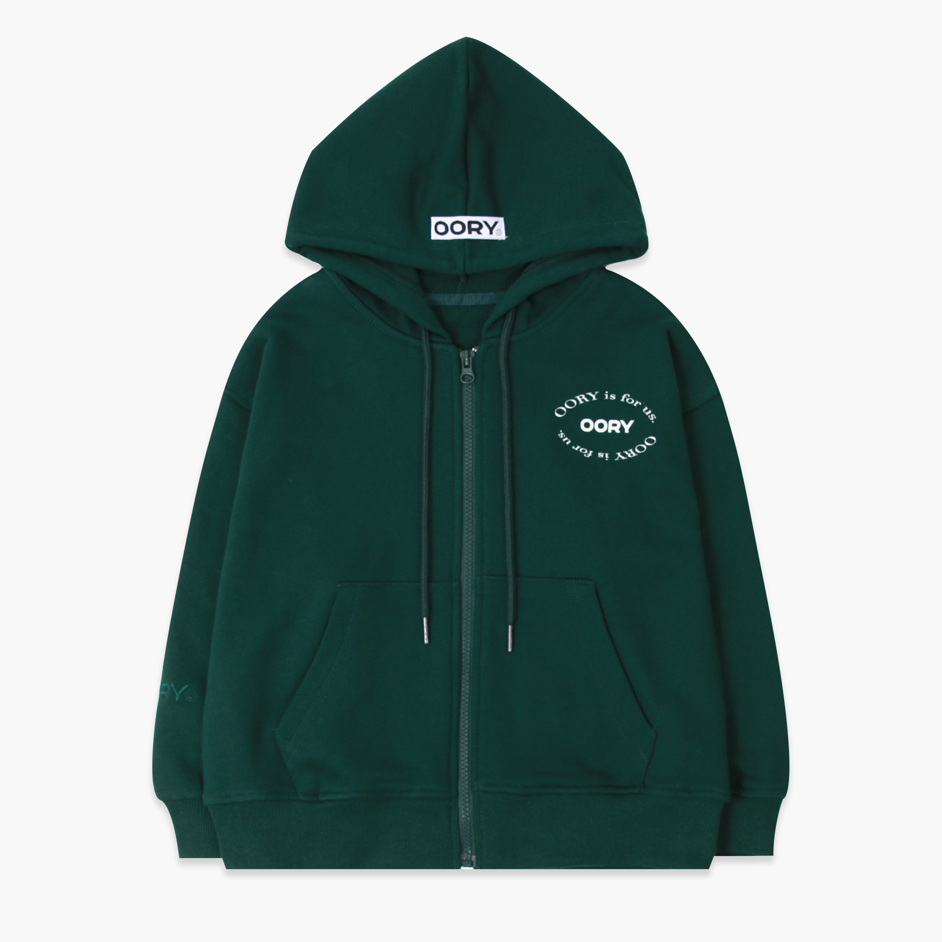 OORY 21 S/S Hood zip up - green