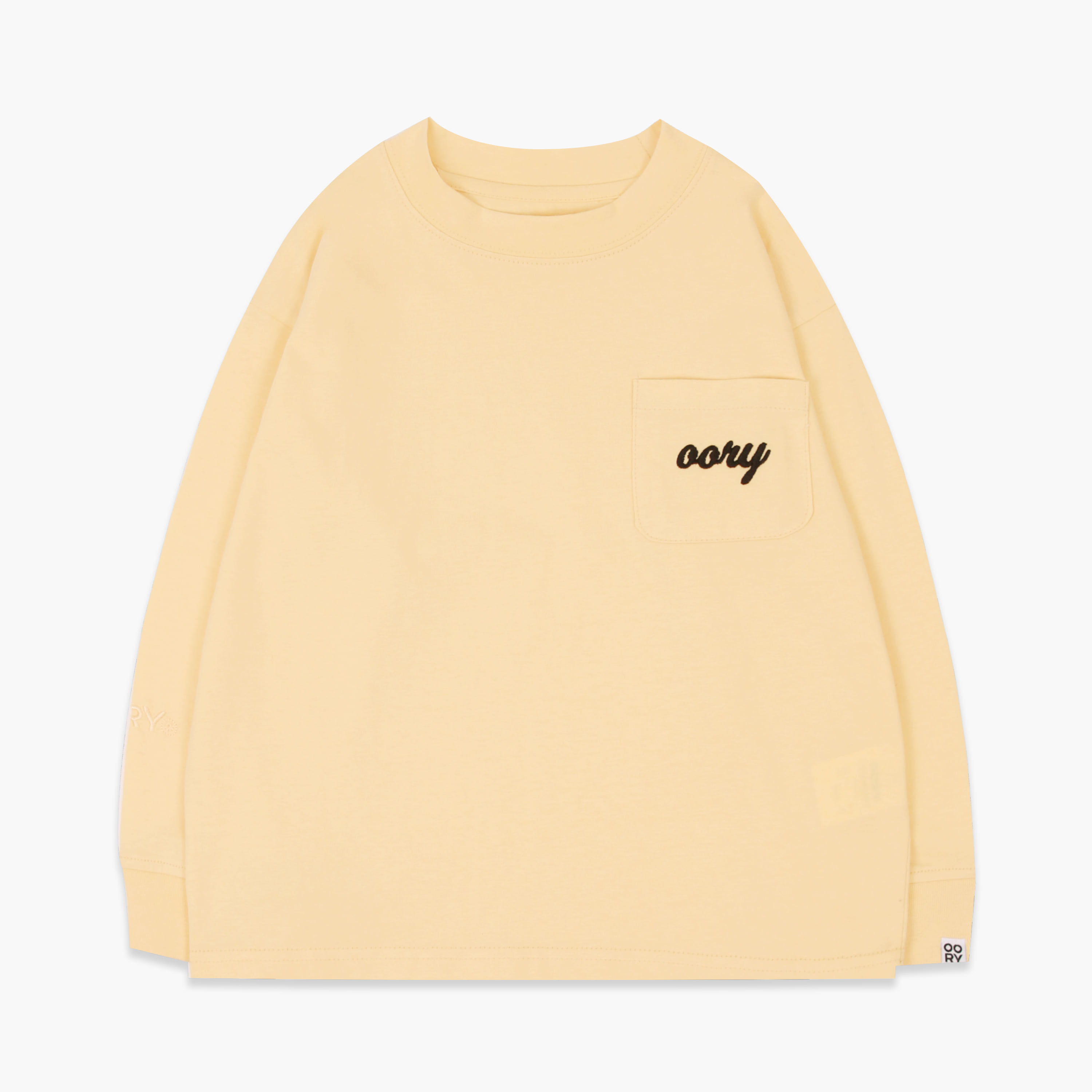 OORY color single t-shirt  - yellow  ( 2차 입고 )
