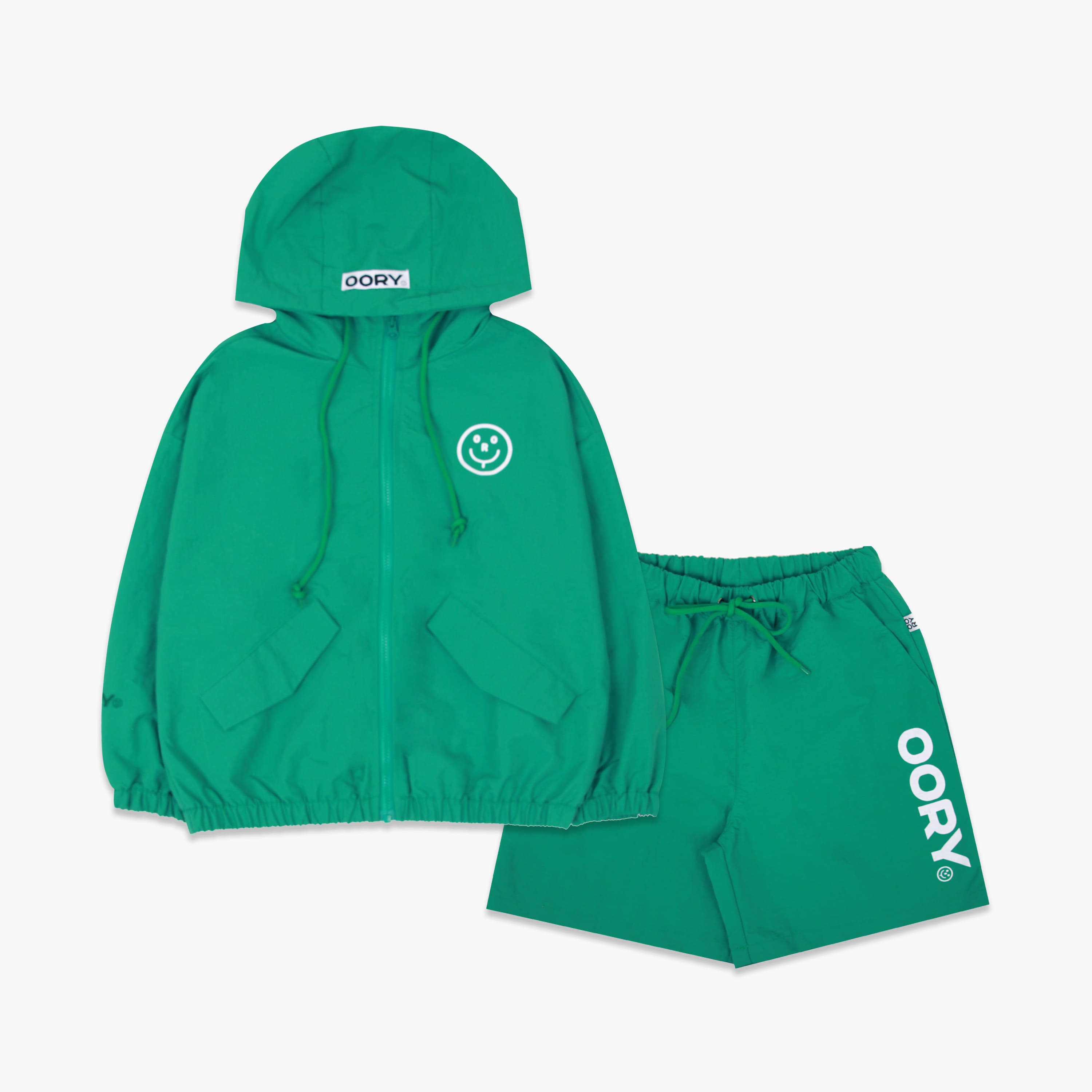 OORY 21 S/S Windbreak set - green( 2차 입고 )