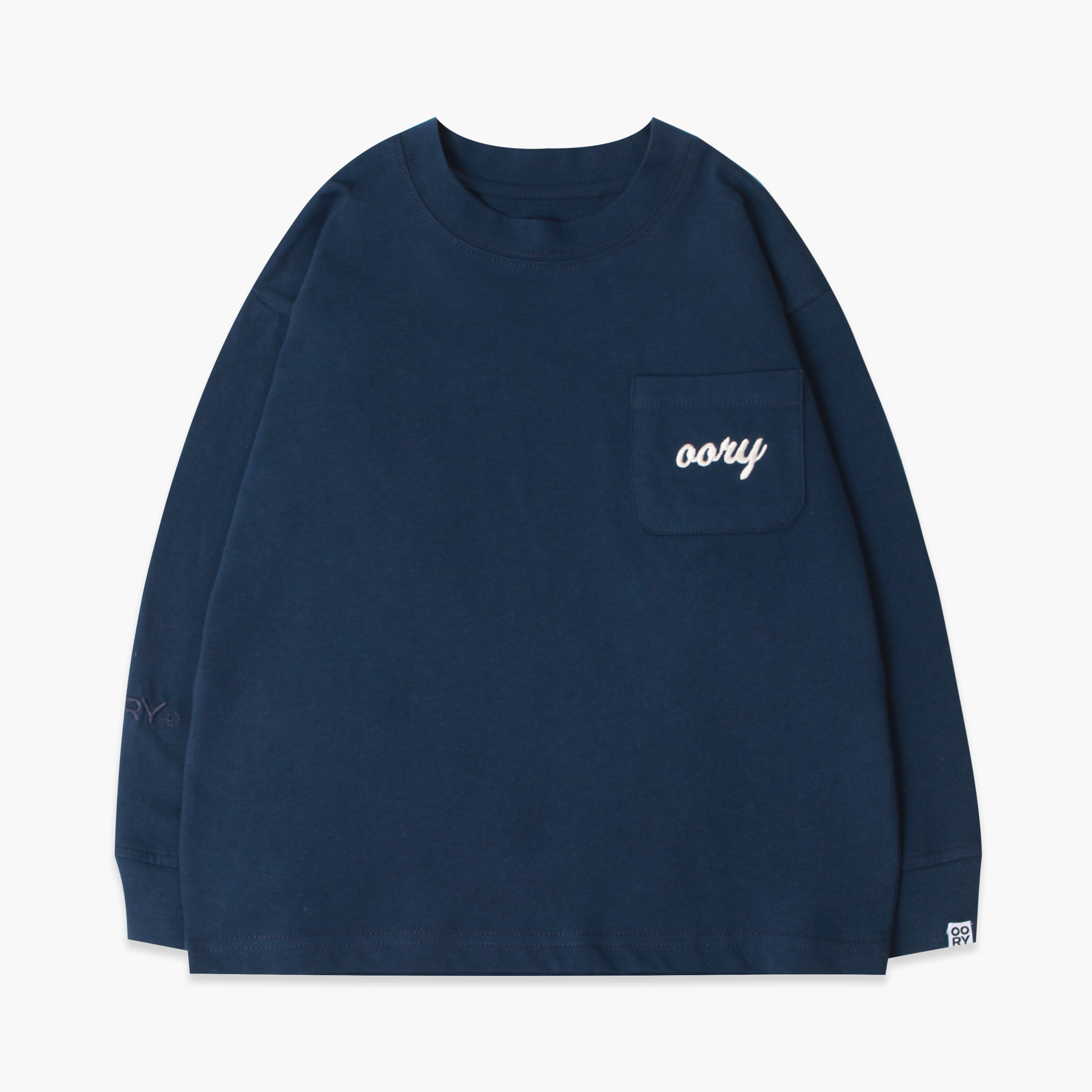 OORY color single t-shirt  - navy