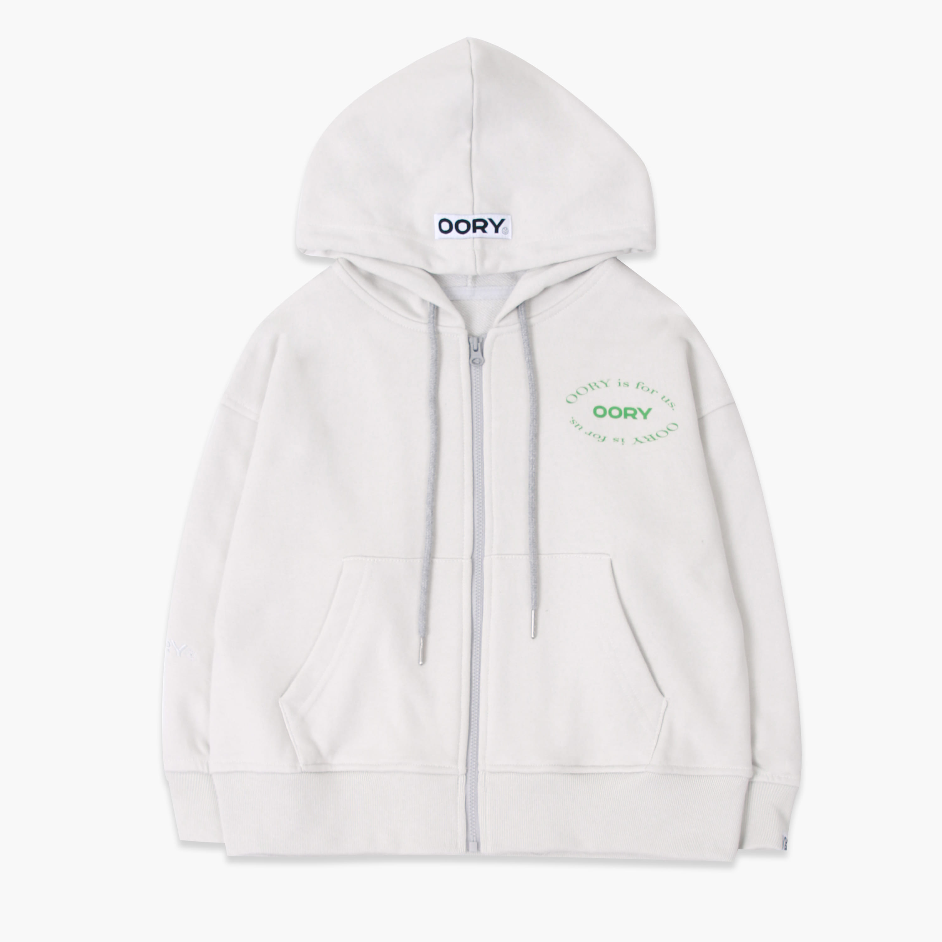 OORY 21 S/S Hood zip up - gray