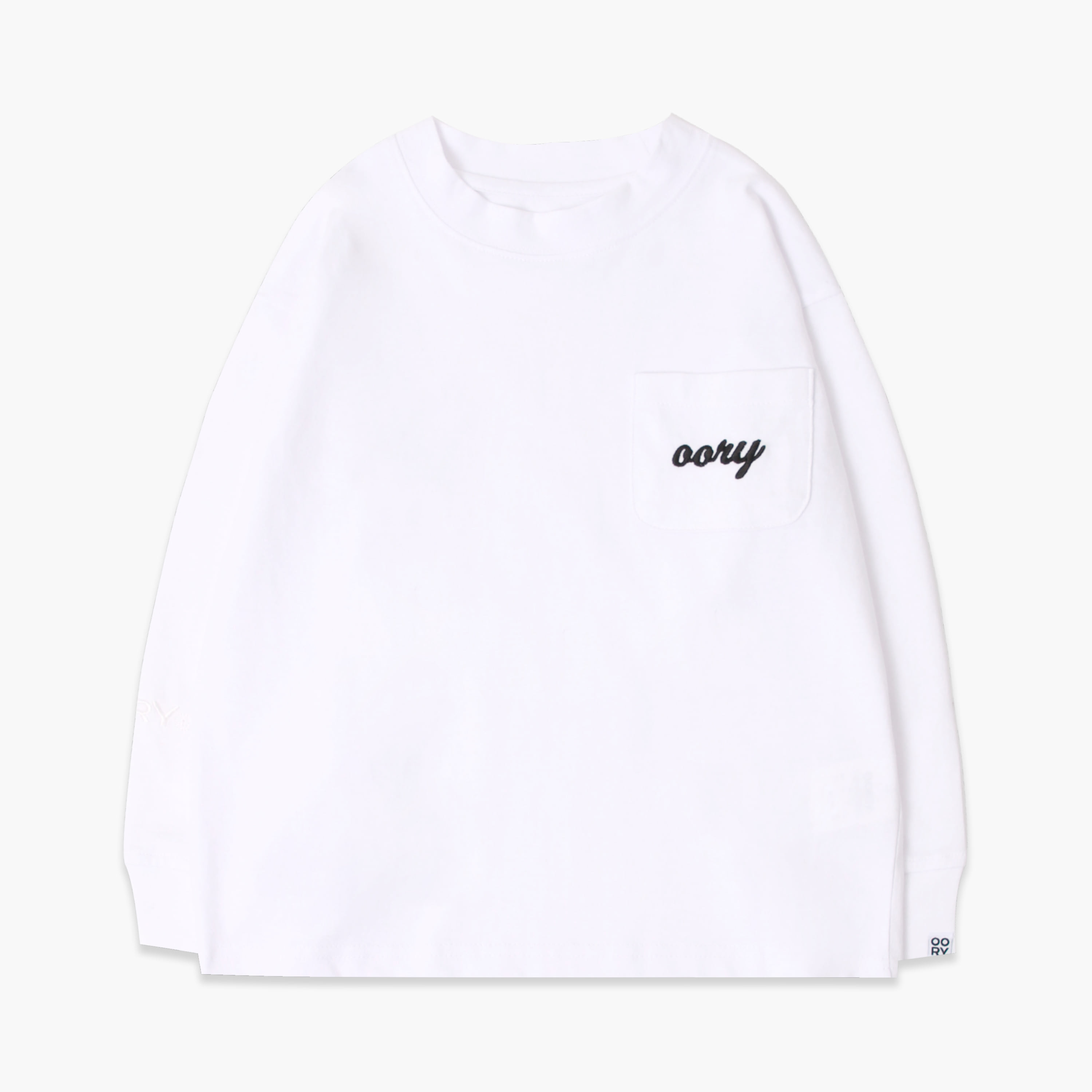 OORY color single t-shirt  - white  ( 2차 입고 )