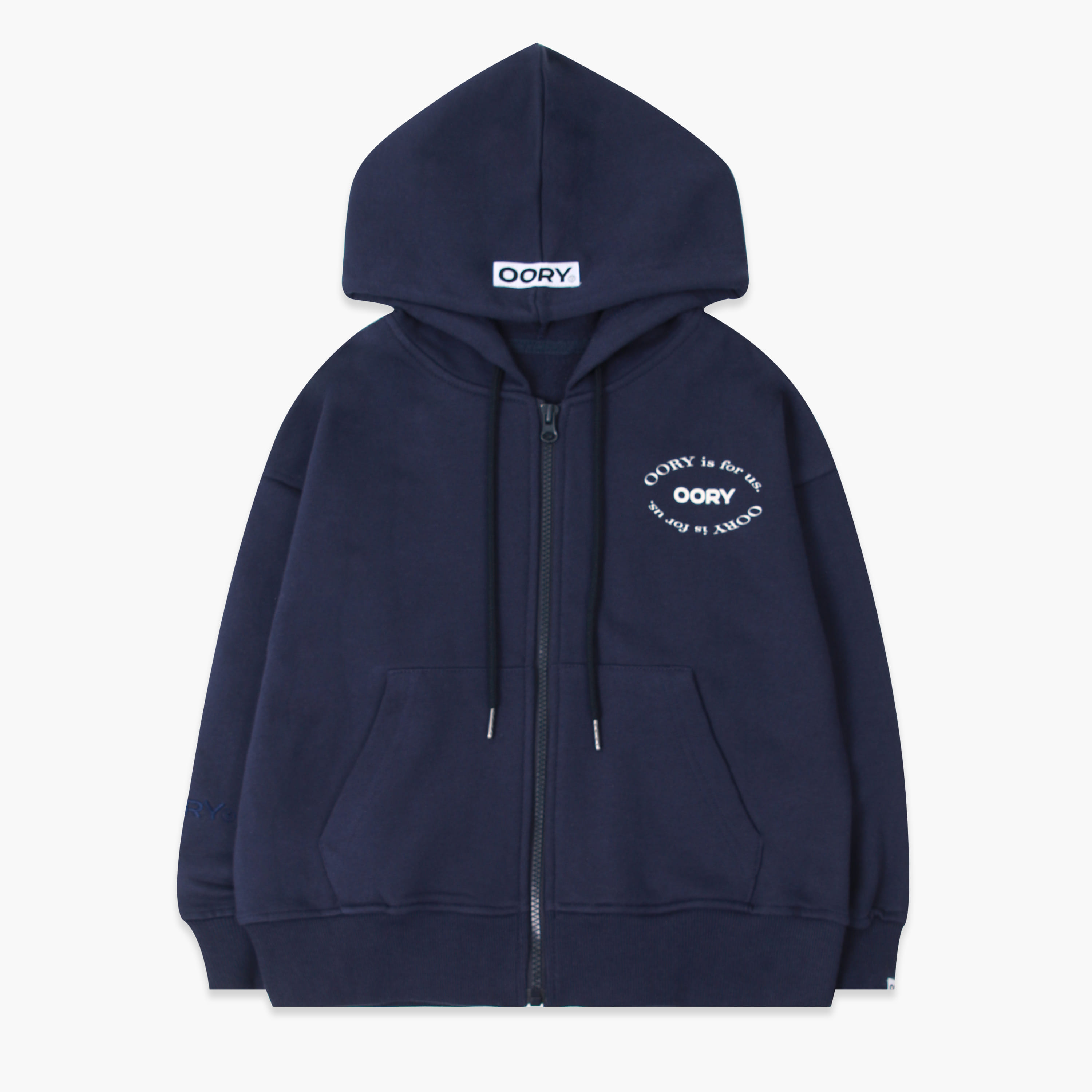 OORY 21 S/S Hood zip up - navy